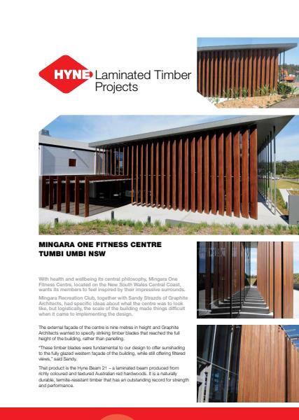 Mingara One Fitness Centre Product Sheet