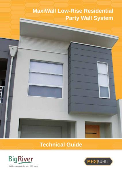 Big River Group maxiwall low rise residential technical guide - partywall