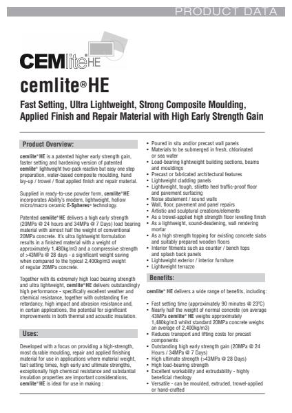 CEMliteHE Ability Information