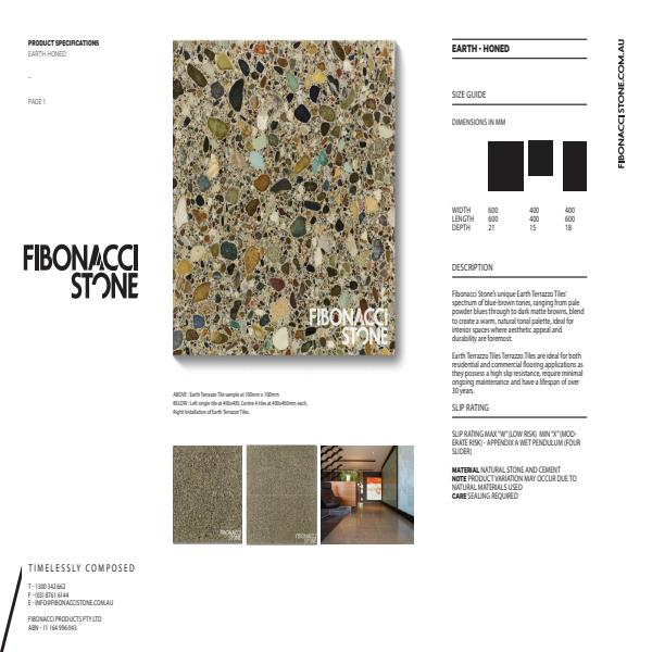 Fibonacci Stone Earth Honed Product Sheet