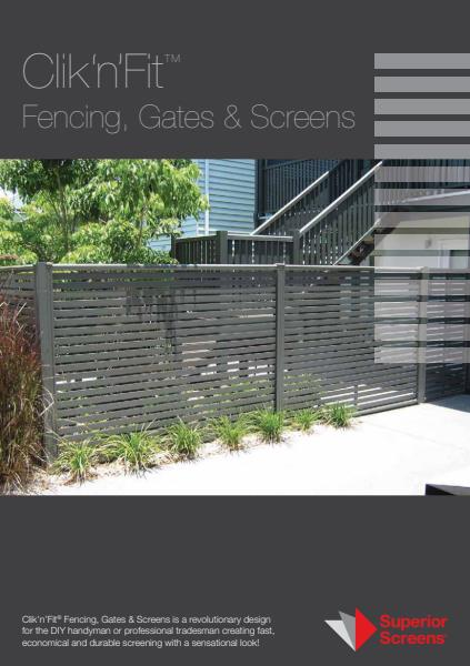Click N Fit fencing. gates and screens