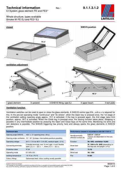 Technical Info CI System Glass Element FE and FE3