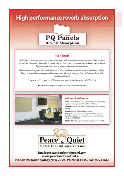 ​PQ Panels Brochure from Peace and Quiet Insulation
