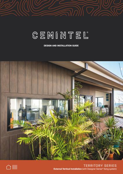 Cemintel Territory vertical installation guide