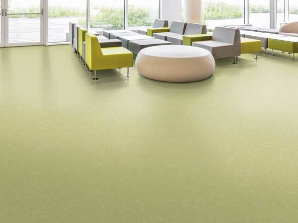 Rubber floor covering