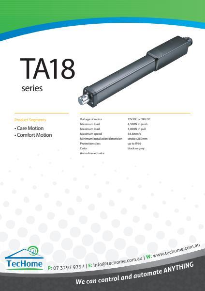 TEC FactSheet Actuators TA18