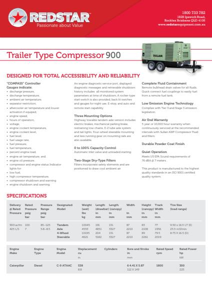 Trailer Type Compressor 900