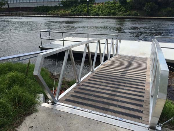 Carborundum safety plates were recently installed in Melbourne onto a timber footbridge