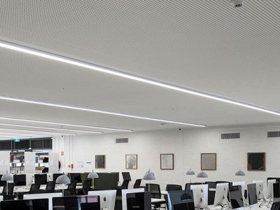 VoglFuge acoustic perforated plasterboard ceiling
