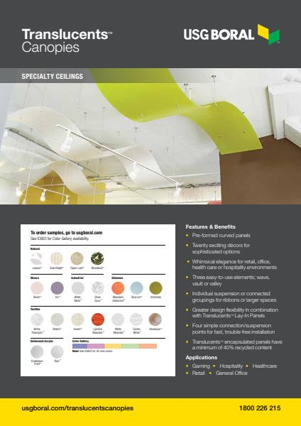 USG Boral Translucents Canopies Brochure