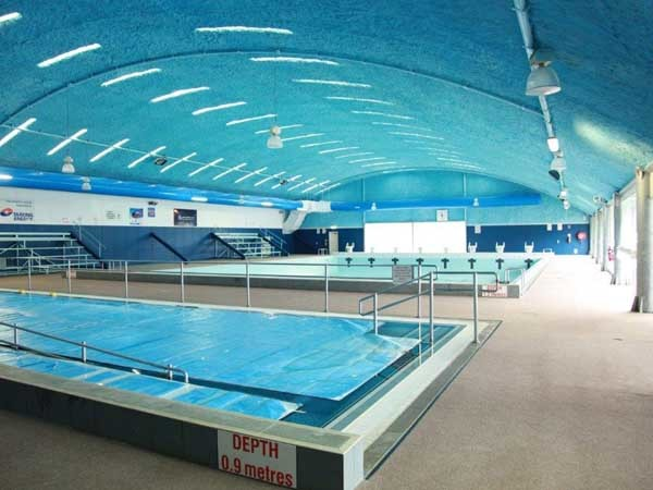 The South Burnett Aquatic Centre featuring the Spantech roof