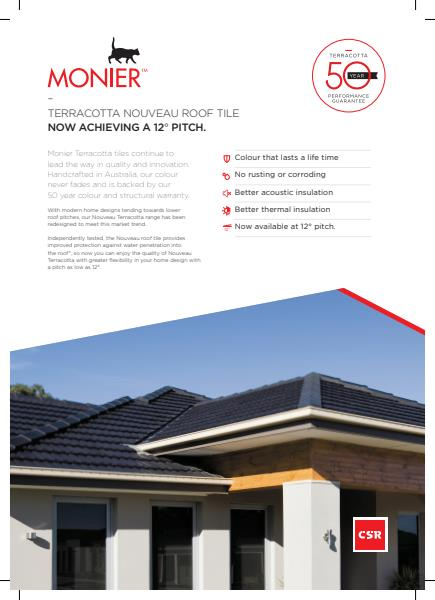 Monier Roofing Terracotta 12 degrees brochure