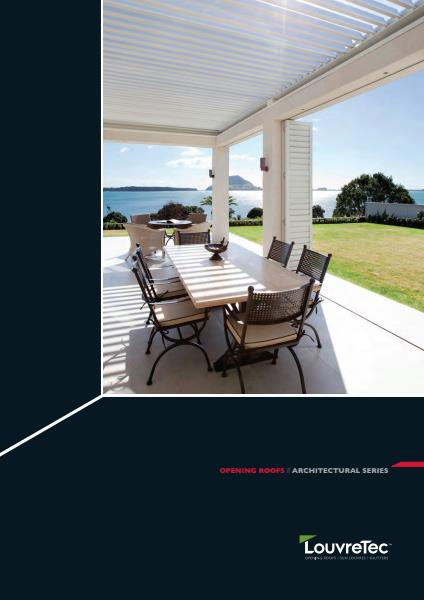 LouvreTec Architectural Series Opening Roofs brochure
