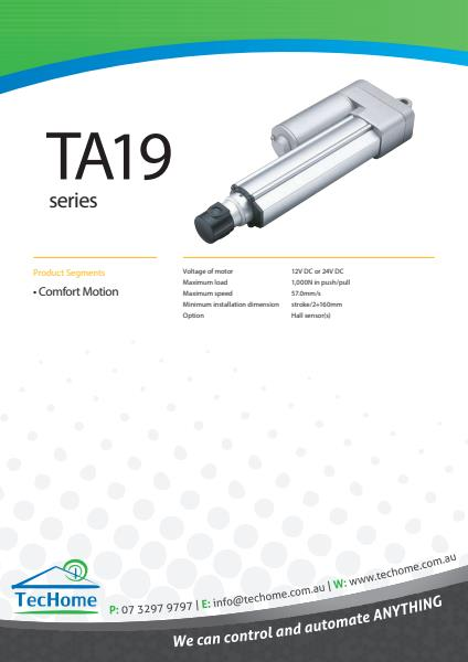 TEC FactSheet Actuators TA19