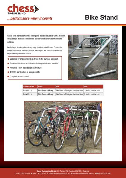 Bike Stand Fact Sheet