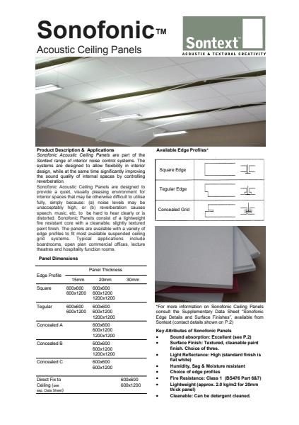 SONOFONIC™ Acoustic Ceiling Panels