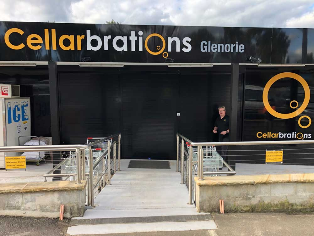 The new Cellarbrations store in Glenorie featuring security roller shutters