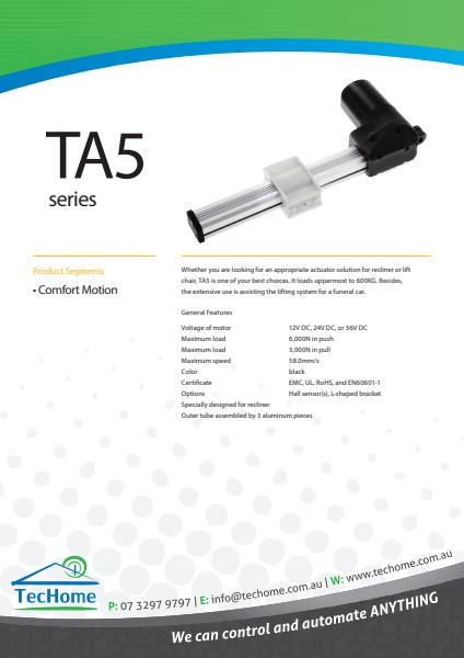 TEC FactSheet Actuators TA5