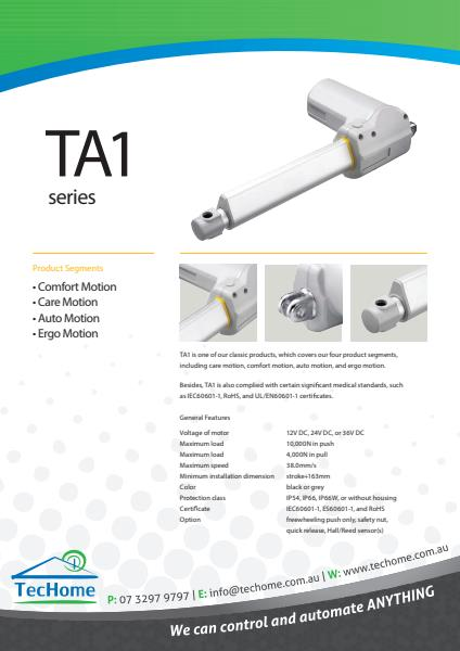 TEC FactSheet Actuators TA1