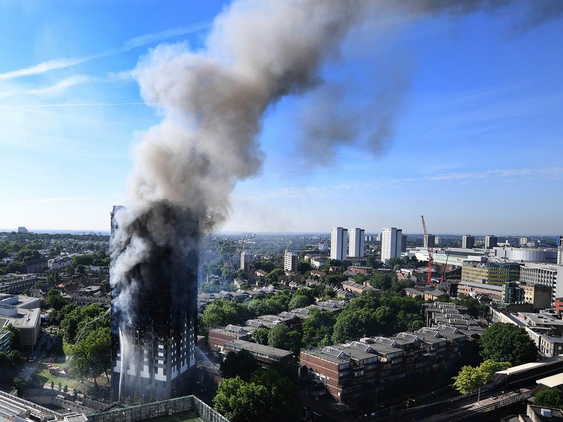 Last week's horrific fire at London's Grenfell Tower has stoked fears about Australian building standards. Image: The Conversation