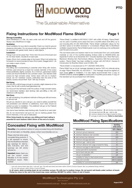 ModWood Flame Shield Fixing Instruction