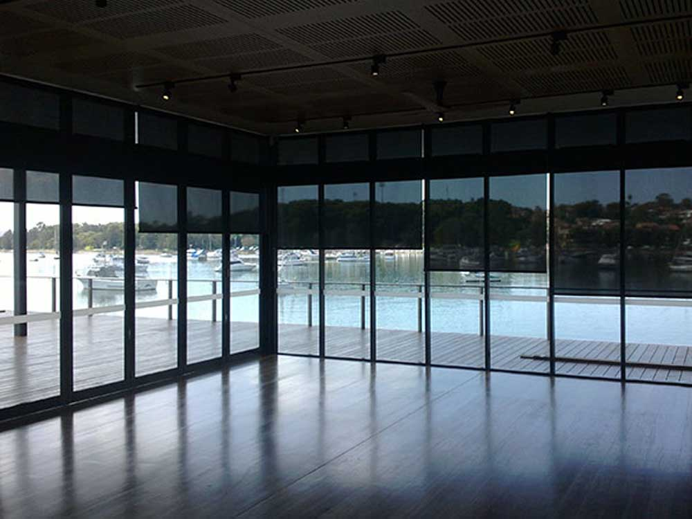 Anti glare blinds at Haberfield Rowing Club