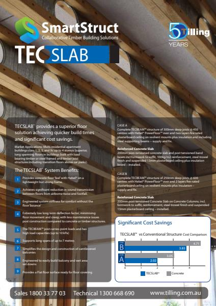 Tilling TecBeam and TecSlab flyer