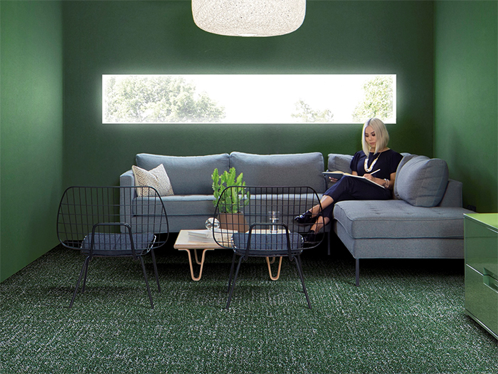 Green Interior Office Breakout Space Interface Carpet