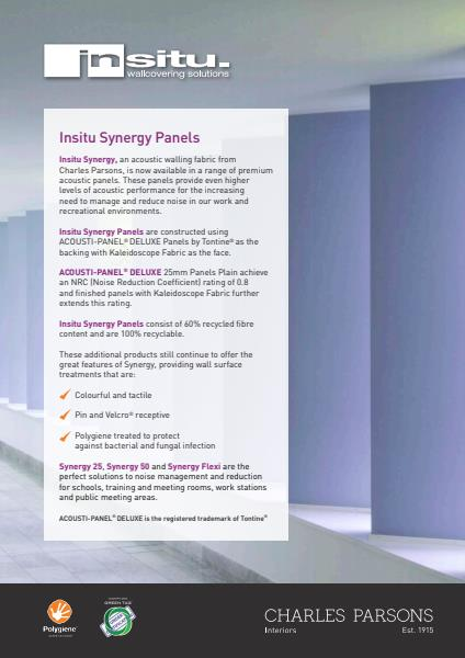 Insitu Synergy Panels Specification Sheet