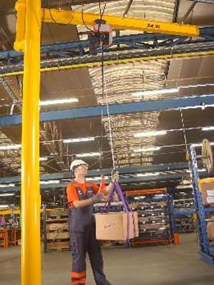 Konecranes jib cranes provide excellent productivity and efficiency for materials handling up to 2t