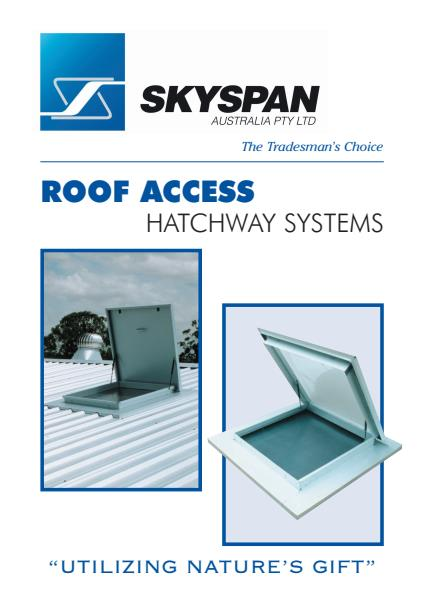 Skyspan Roof Access Hatchway Systems Brochure