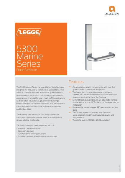 Legge 5300 Marine Series product brochure
