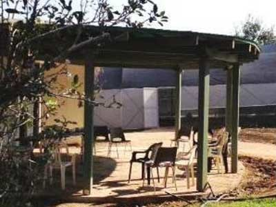 SUNTUF corrugated polycarbonate sheets were used to construct a gathering and recreational pergola