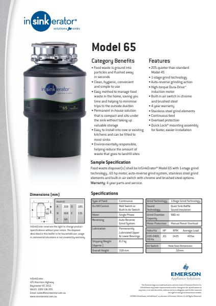 Model 65 Technical Specification