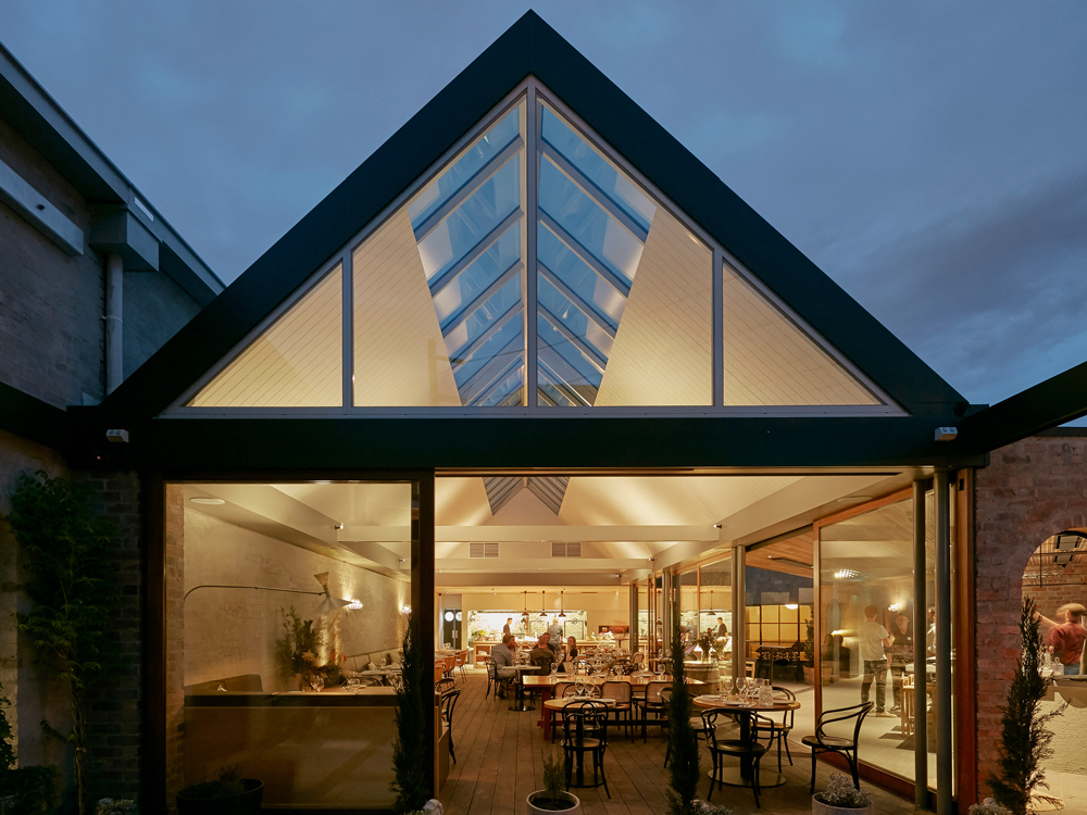 Transforming a factory into a contemporary, light-filled restaurant