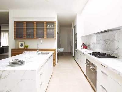 Calacatta marble in a kitchen