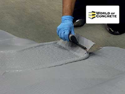 Demos of polymer floor coatings at the World of Concrete 2017