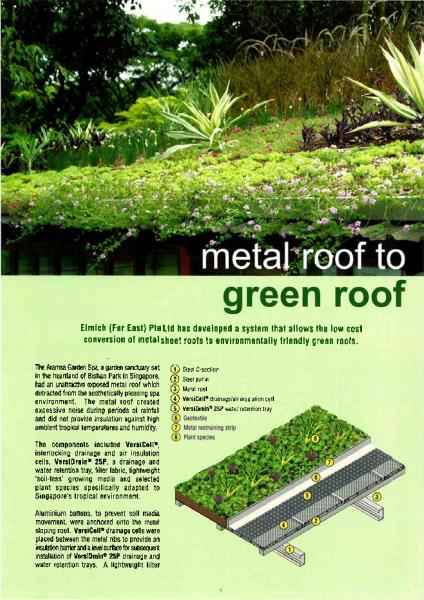 Metal Roof to Green Roof
