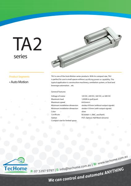 TEC FactSheet Actuators TA2