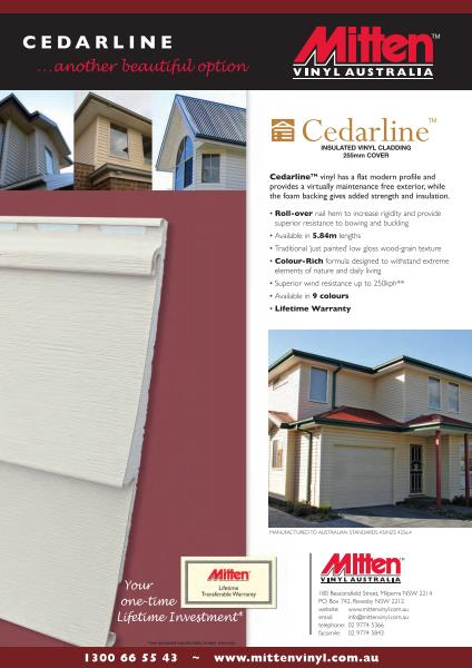 Cedarline Vinyl Cladding