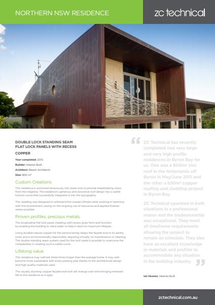 Northern NSW residential case study