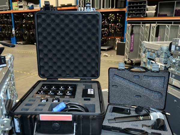 Shure ULX-D microphone system and Innovative's battery kit