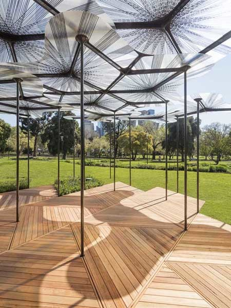 Auswest Timbers Silvertop Ash decking has been selected for this year's MPavilion